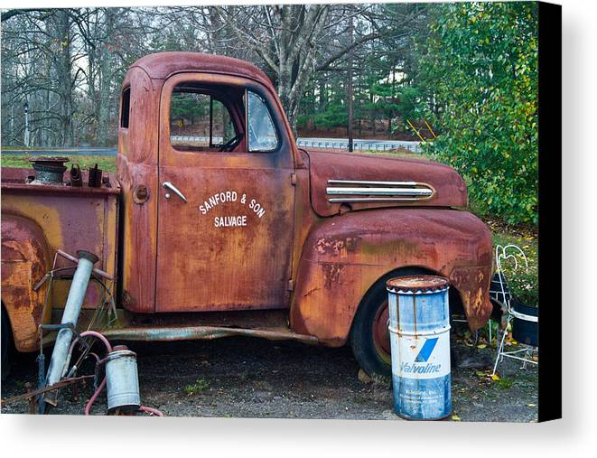 Canvas Print featuring the photograph Sanford And Son Salvage 1 by Douglas Barnett