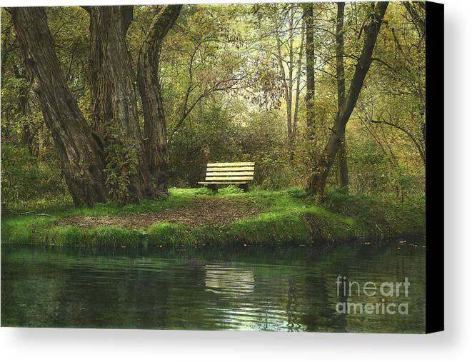 Bench Canvas Print featuring the photograph Saturday Afternoon by Jan Piller