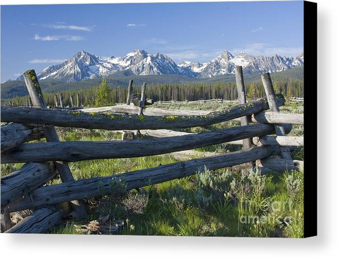 Sawtooth Canvas Print featuring the photograph Sawtooth Range by Idaho Scenic Images Linda Lantzy