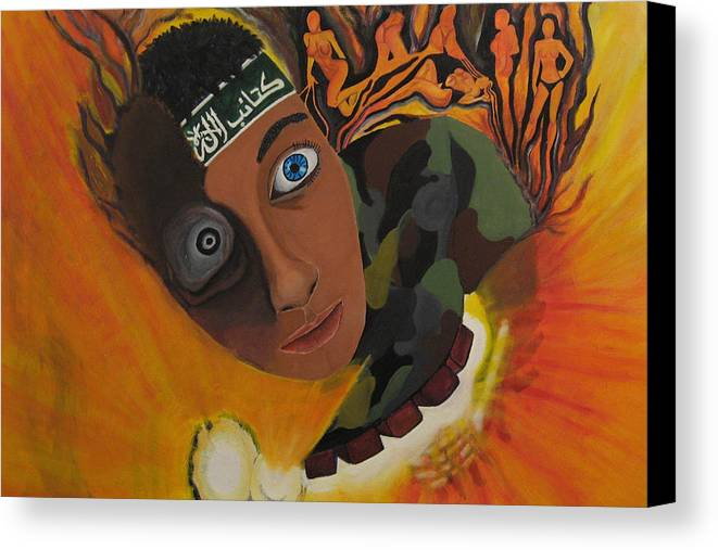 Schoolboy Canvas Print featuring the painting Schoolboy Fantasy by Darren Stein