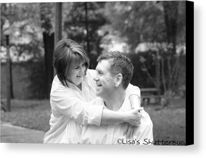 Canvas Print featuring the photograph Scott And Sandi by Lisa Johnston