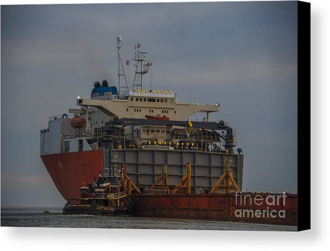 Treasure Canvas Print featuring the photograph Sea Going Work by Dale Powell