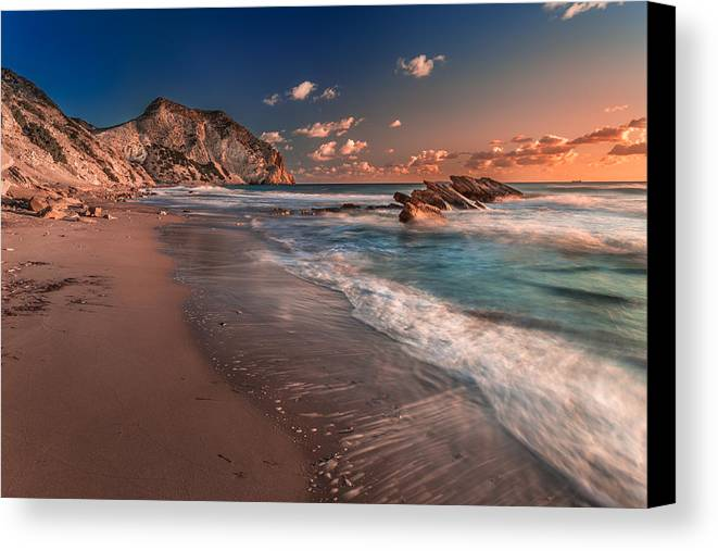 Beach Canvas Print featuring the photograph Secret Beach Greece by Mike Drosos