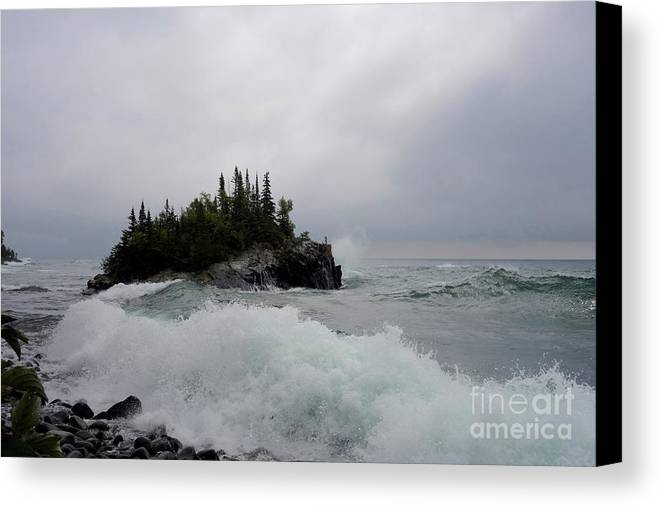 Big Wave! Canvas Print featuring the photograph September Storm #5 by Sandra Updyke
