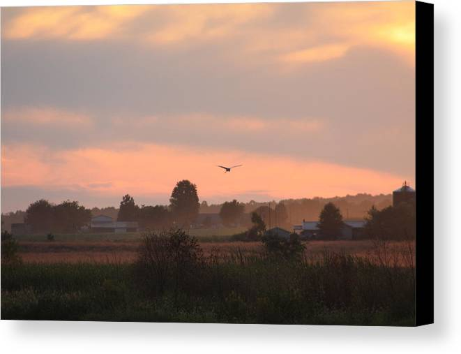 September Canvas Print featuring the photograph September Sunset by Diane Merkle