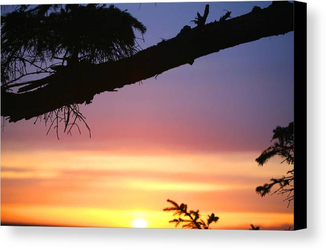 Sunset Canvas Print featuring the photograph Sequim Sunset Ss 2007 by Mary Gaines