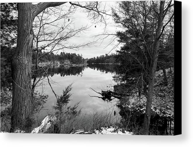 Frontenac Park Canvas Print featuring the photograph Serene Fall by Ian Sempowski
