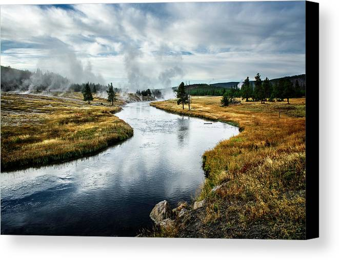 Yellowstone Canvas Print featuring the photograph Serenity by Scott Read