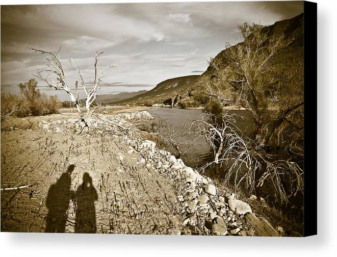 Desert Canvas Print featuring the photograph Shadows Lurking by Keith Sanders