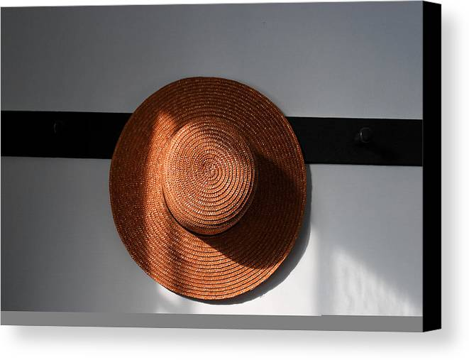 Shaker Canvas Print featuring the photograph Shaker Hat by Lone Dakota Photography