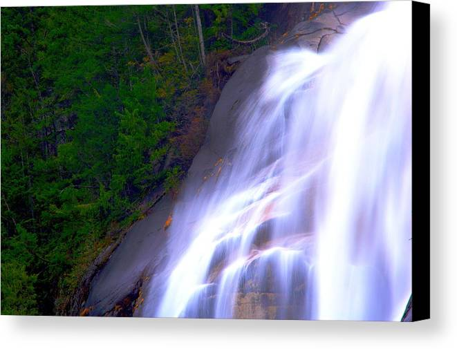 Waterfall Canvas Print featuring the photograph Shannon Falls by Paul Kloschinsky