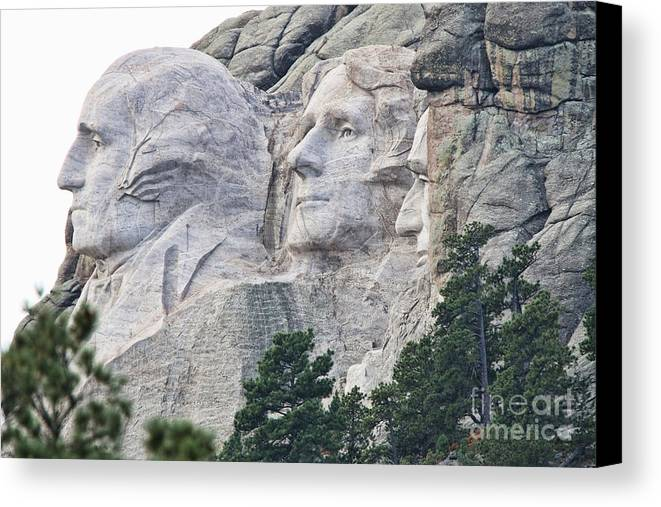 Mount Rushmore Canvas Print featuring the photograph Side View Of Mount Rushmore 8696 by Jack Schultz