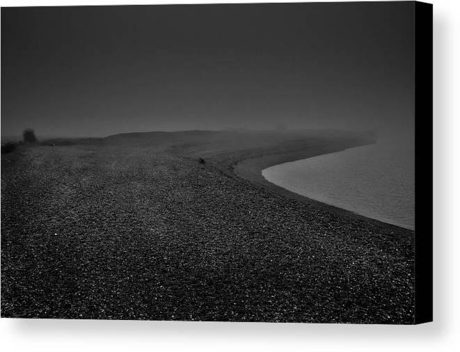 Dark Canvas Print featuring the photograph Silent Beach. A Dark, Ghostly Fine Art Photographic Print Of A Fog Shrouded Beach by Lee Thornberry