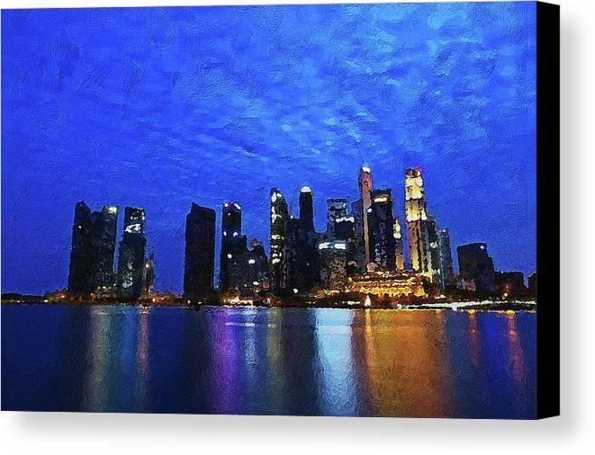 Singapore City Canvas Print / Canvas Art by PixBreak Art