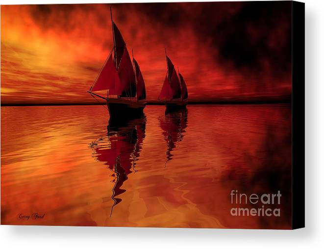 Sailing Canvas Print featuring the painting Siren Song by Corey Ford