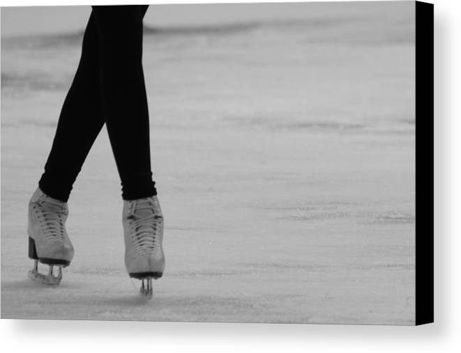 Ice Skate Canvas Print featuring the photograph Skating by Lauri Novak