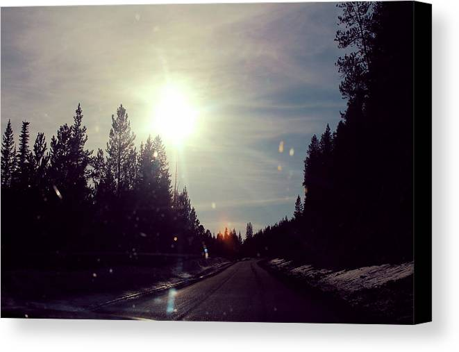 Ski Lodge Canvas Print featuring the photograph Ski Lodge Road by Rylee Tyler