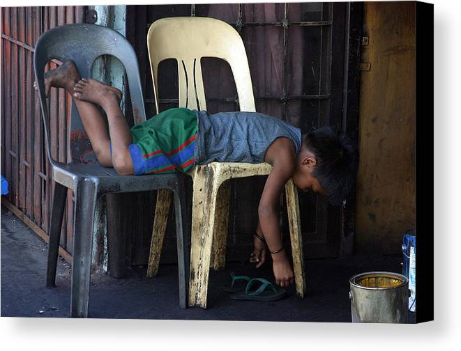 Photographer Canvas Print featuring the photograph Sleep 3 by Jez C Self