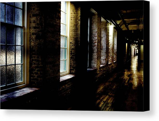 enterprise Mill Canvas Print featuring the photograph Slit Scan 5 by Patrick Biestman