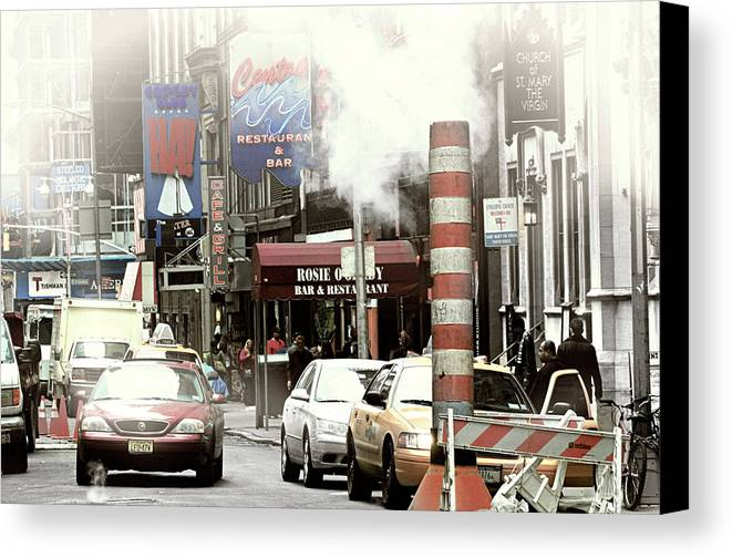 New York City Canvas Print featuring the photograph Smoke Gets In Your Eyes by Diana Angstadt