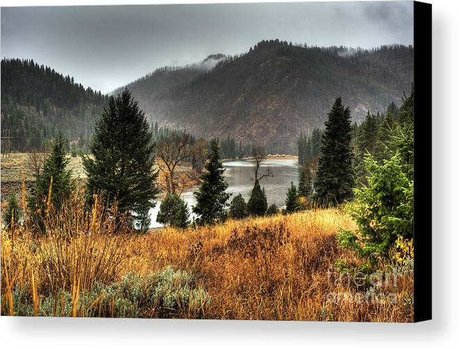 Places Canvas Print featuring the photograph Snake River Canyon by Dennis Hammer