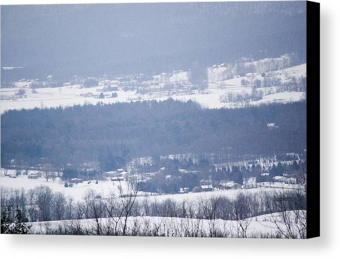 Valley Canvas Print featuring the photograph Snow In The Valley by Richard Botts