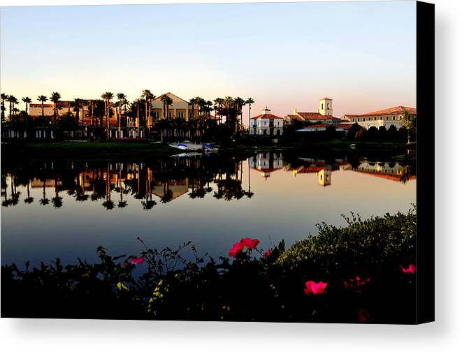 Solivita Canvas Print featuring the photograph Solivita Town Center by Lyle Huisken