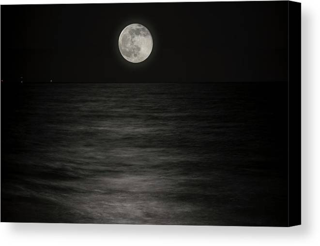 Super Moon Canvas Print featuring the photograph Solstice Moon by Rick Bravo
