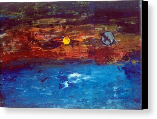 Soul Canvas Print featuring the glass art Soul Journey.. by Rooma Mehra