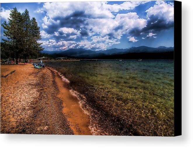 Priest Lake Canvas Print featuring the photograph South Beach At Priest Lake by David Patterson