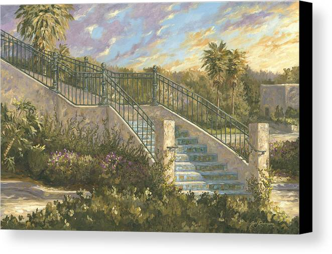 Steps Canvas Print featuring the painting Spanish Steps by Jose Rodriguez