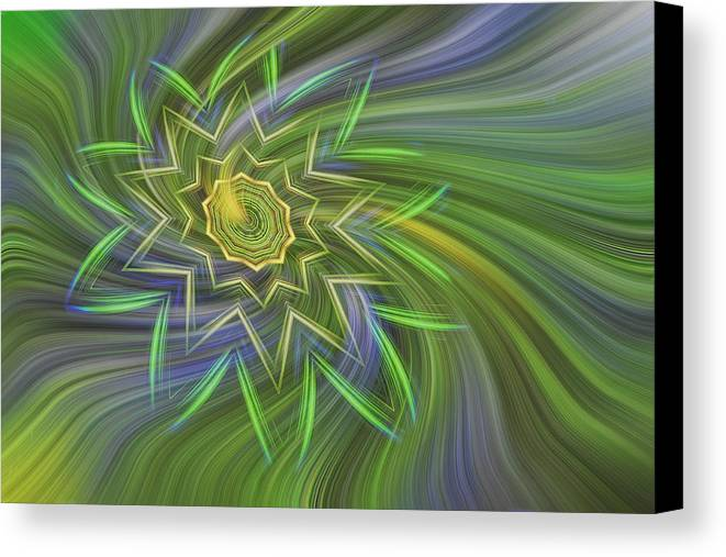 Abstract Canvas Print featuring the photograph Spinning Star by Linda Phelps