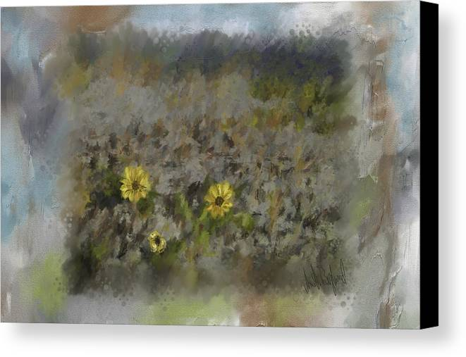 Flowers Canvas Print featuring the painting Spring Fever by Annette Berglund