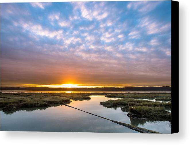 Humboldt Bay Canvas Print featuring the photograph Spring Sunrise On Arcata Bay by Greg Nyquist