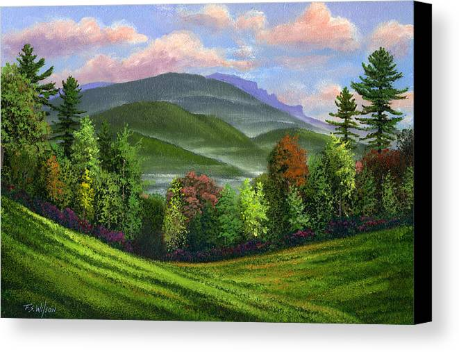 Landscape Canvas Print featuring the painting Spring Time by Frank Wilson