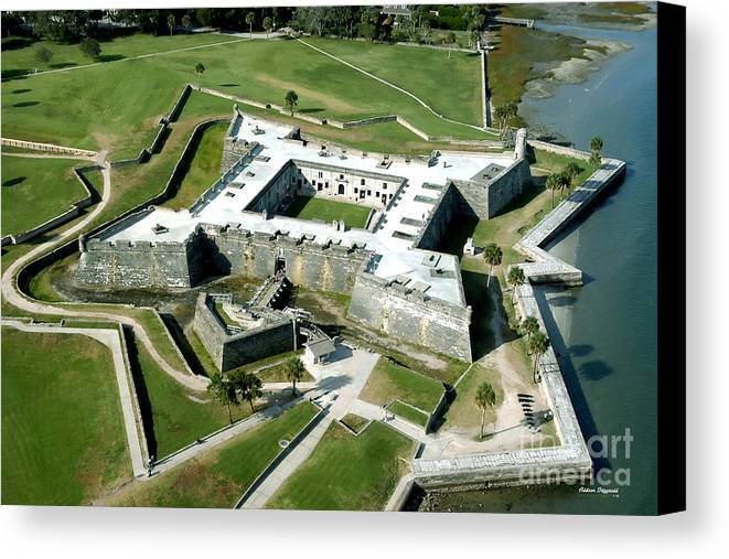 St Augustine Canvas Print featuring the painting St Augustine Fort - Castillo De San Marcos by Addison Fitzgerald