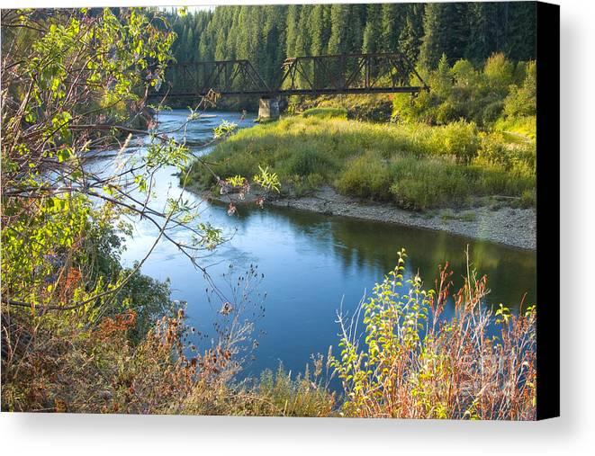 Idaho Canvas Print featuring the photograph St. Joe River by Idaho Scenic Images Linda Lantzy