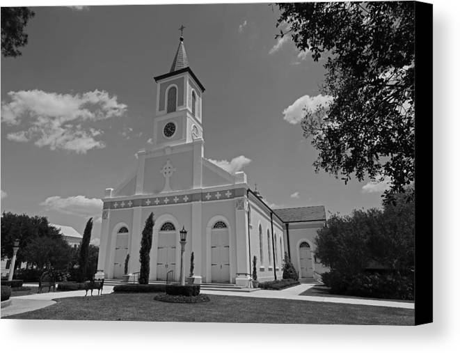 Church Canvas Print featuring the photograph St. Martinville Church by Ronald Olivier