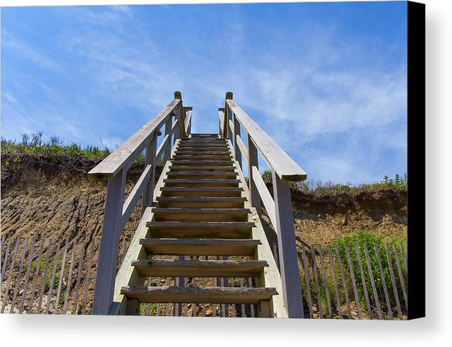 Beach Canvas Print featuring the photograph Stairway To Heaven by Justin Starr