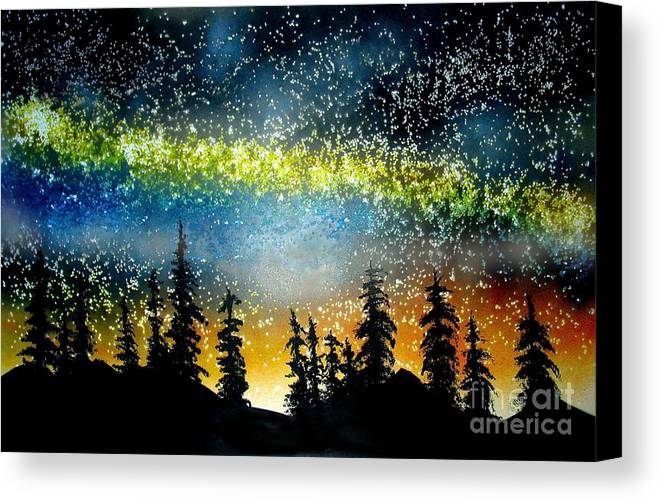 Stars Canvas Print featuring the mixed media Starry Starry Night by Ed Moore