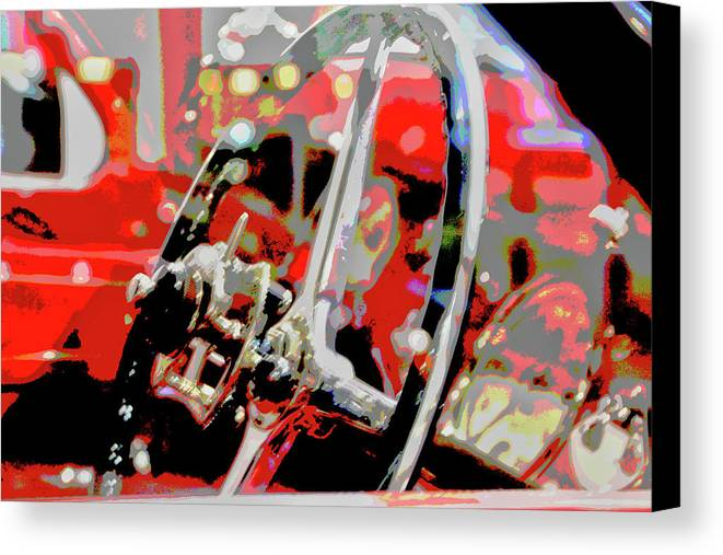 Cars Canvas Print featuring the digital art Steering Clear by Karol Blumenthal