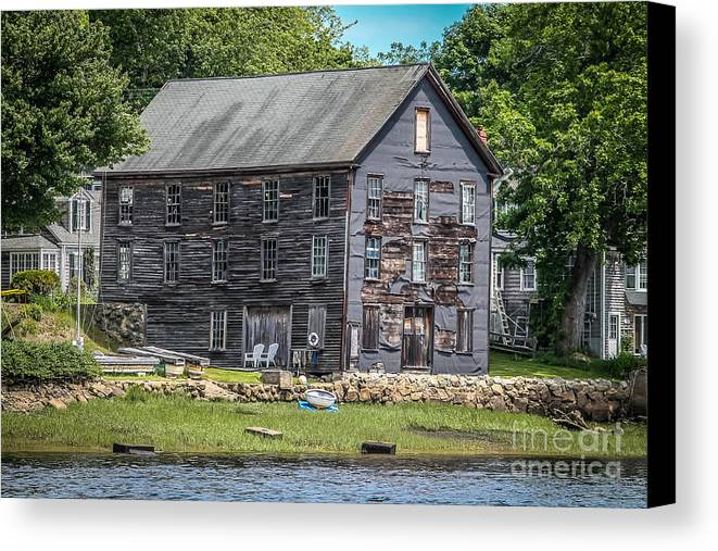 New England Canvas Print featuring the photograph Still Standing 1 by Claudia M Photography