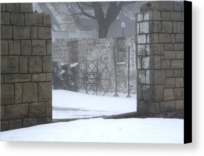 Winter Canvas Print featuring the photograph Stone Cellar by Tim Nyberg