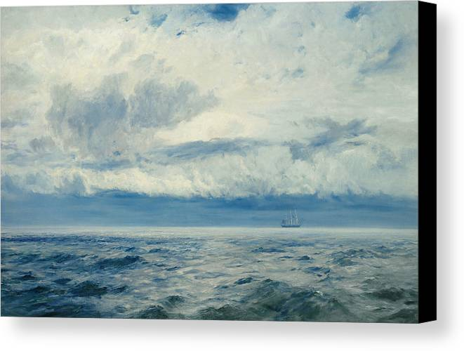 Storm Canvas Print featuring the painting Storm Brewing by Henry Moore