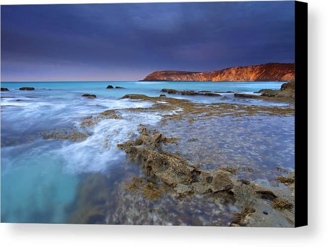 Dawn Canvas Print featuring the photograph Storm Light by Mike Dawson