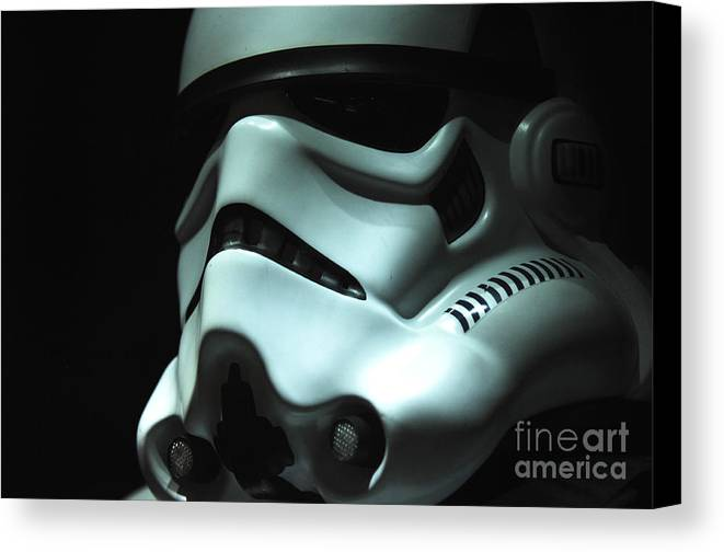 Stormtrooper Canvas Print featuring the photograph Stormtrooper Helmet by Micah May