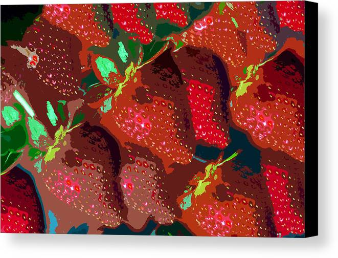 Strawberry Canvas Print featuring the painting Strawberry Fields Forever by David Lee Thompson