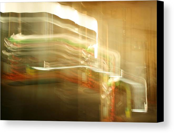 Abstract Canvas Print featuring the photograph Streak Door Lights by Joshua Sunday