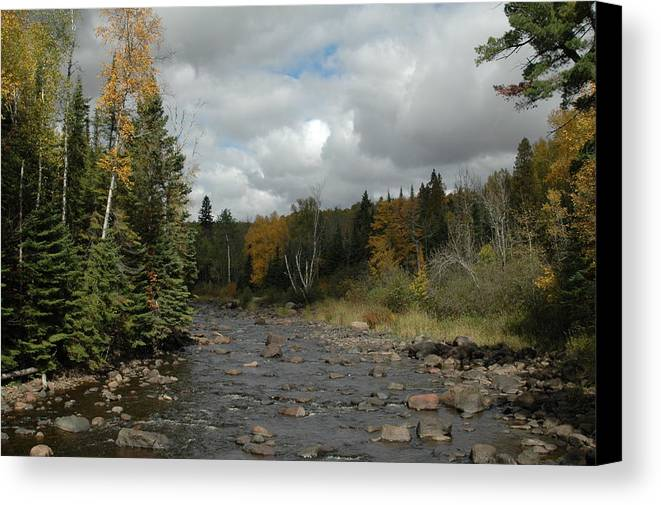 Nature Canvas Print featuring the photograph Stream At Tettegouche State Park by Kathy Schumann