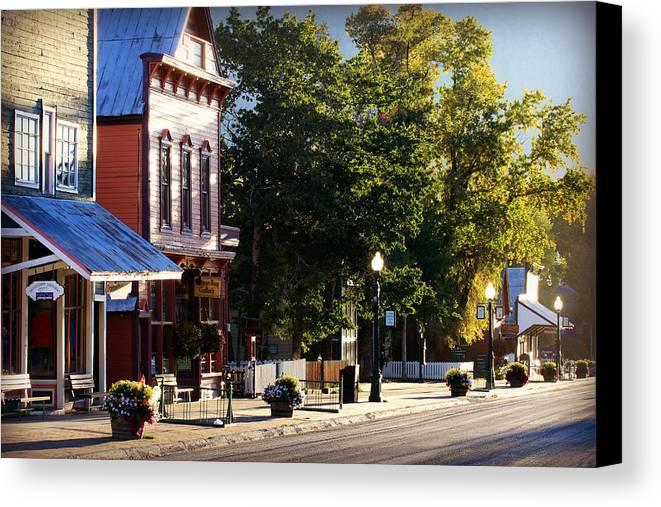 Colorado Canvas Print featuring the photograph Streets Are Empty by Bill Keiran